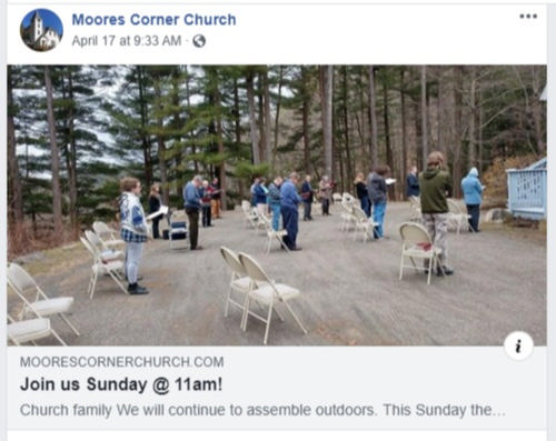 Outdoor service during COVID-19
